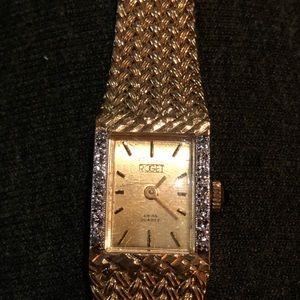 roget Jewelry - Gold and diamonds Swiss quart watch